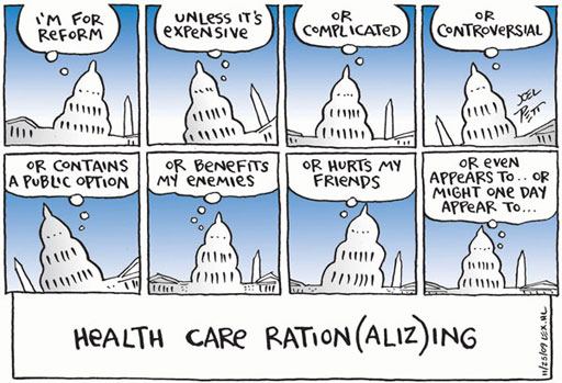 "Health Care Ration(aliz)ing"" by Joel Pett 