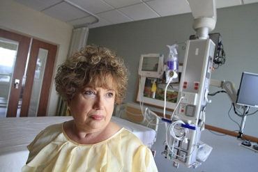 Dorothea Handron was so weakened by complications from a hernia operation that she was placed in a medically induced coma at Vidant Medical Center (Photo by Jim R. Bounds/AP Images for KHN)