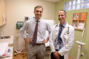 Catholic Charities Staff Attorney Brett Stark and Montefiore Pediatrician Alan Shapiro founded Terra Firma, a medical-legal partnership to help unaccompanied minors from El Salvador, Guatemala and Honduras who have settled in Bronx County (Photo by Mark Bonifacio).