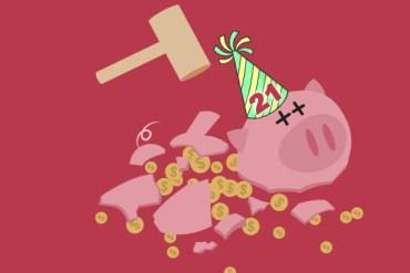 broken piggy bank 21
