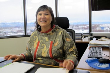 Valerie Davidson, who will oversee the expansion of Medicaid for Alaska. (Photo by Lori Townsend/Alaska Public Media)