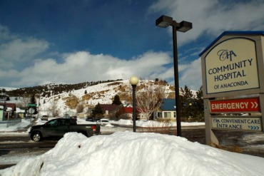"""Montana's hospital association is backing Governor Steve Bullock's Medicaid expansion plan. Most are small, """" critical access hospitals (25 beds or fewer) like this one in the town of Anaconda. (Photo by Eric Whitney/Montana Public Radio)"""