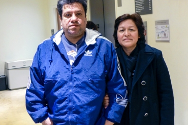 Rodolfo and Norma Santaolalla, of Arlington, Va., recently sought help enrolling in the Affordable Care Act (Photo by Mary Agnes Carey/KHN).