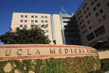 Ronald Reagan UCLA Medical Center in 2008 in Los Angeles, California. (Photo by David McNew/Getty Images)