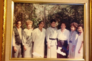 Brunhilde Ortiz stands tall in the center flanked by her siblings on a visit to the Domincan Republic decades ago. (Courtesy Josephina Deltejo)