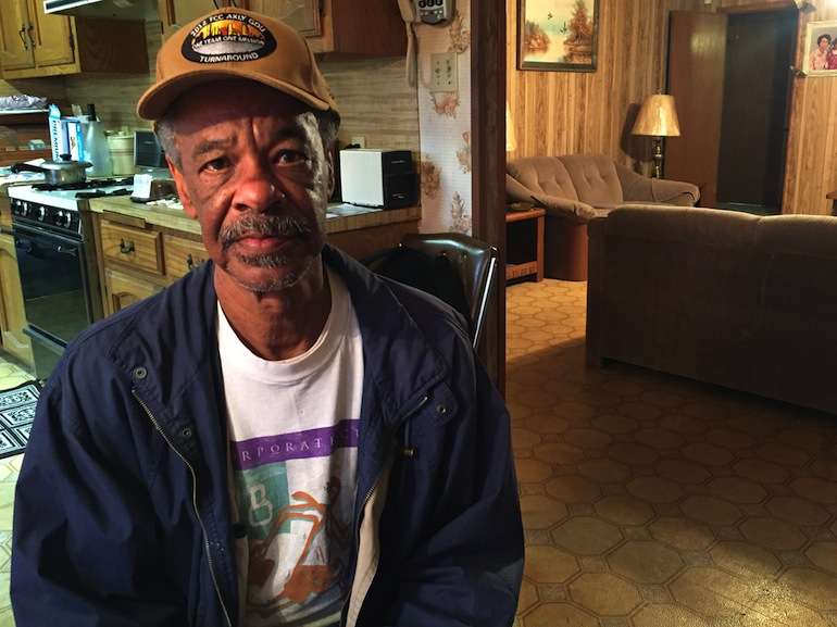 Carlton Scott, 63, at his house in Prairieville, Louisiana. Scott is too young for Medicare and Louisiana hasn't expanded Medicaid, so Obamacare was a good option for him (Photo by Jeff Cohen/WNPR).