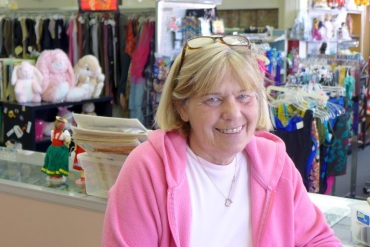Marilyn Lanter, 61, who works at Community Kindness Resale Shop on Main Street in Belleville, Ill. (Photo by Phil Galewitz/KHN)