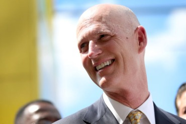 Florida Governor Rick Scott on in March 2015 in Hialeah, Florida.  (Photo by Joe Raedle/Getty Images)