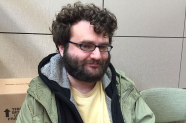 James Marks pays about $180 a month for his insurance and is happy he doesn't have to depend on his parents for help with medical costs. (Photo by Jeff Cohen/WNPR)