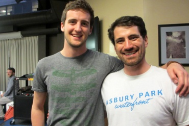 """Keith Love (l) and Jimmy Murphy are first-year """"Hu-Med"""" students at Mount Sinai. Neither majored in a """"hard"""" science like biology or physics, nor did they have to take the dreaded medical school admission test. (Photo: Cindy Carpien for KHN)"""
