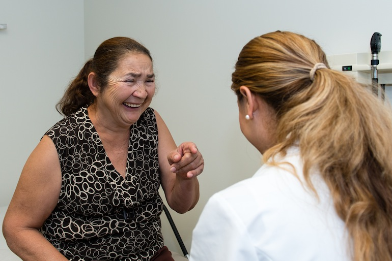 Vargas says her patients become part of her family after treating them for a while (Photo by Heidi de Marco/KHN).