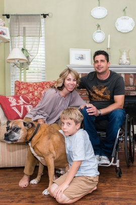 Anthony R. Orefice and his family in their home in Valencia, California on Monday, June 15, 2015 (Photo by Heidi de Marco/KHN).