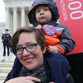 Jennifer Diefenbach of Fort Lauderale, and son, Dash, at the Supreme Court in May. (Photo courtesy of Jennifer Diefenbach)