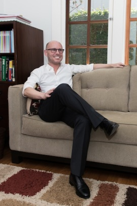 Attorney and psychologist Meiram Bendat at his home in West Hollywood, California, on April 30, 2015. Bendat focuses on mental health cases and has filed several cases alleging violations of parity law (Photo by Heidi de Marco/KHN).