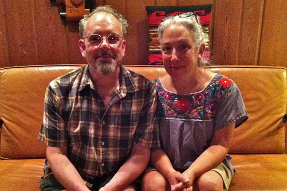 Michael Trost of Dingmans Ferry, Pa. (seen here with his wife, Susan Rosalsky) was billed $32,325 for a surgery with an out-of-network doctor in an in-network hospital. (Photo by Elana Gordon/WHYY)