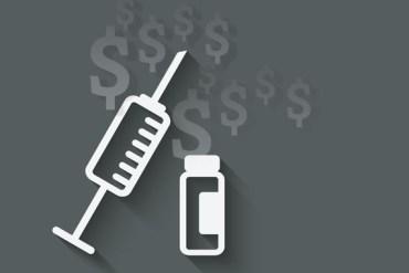 syringe and vial medical symbol - vector illustration. eps 10