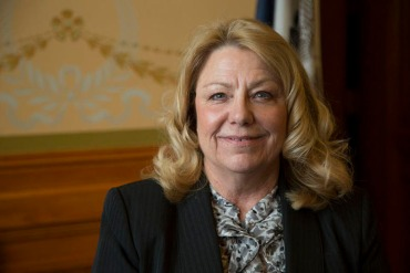 Iowa Senate President Pam Jochum wants to make sure the transition of Medicaid recipients to private companies has good oversight. (Photo by Clay Masters/Iowa Public Radio)
