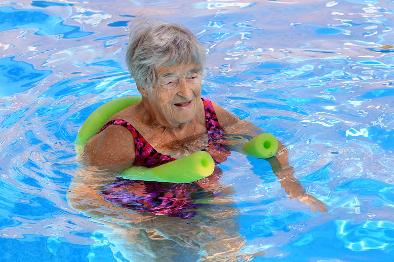 Likover swims at least three times a week, serves on several committees addressing seniors' issues and calls herself a huge Jon Stewart fan. (Photo by Lynn Ischay for Kaiser Health News)