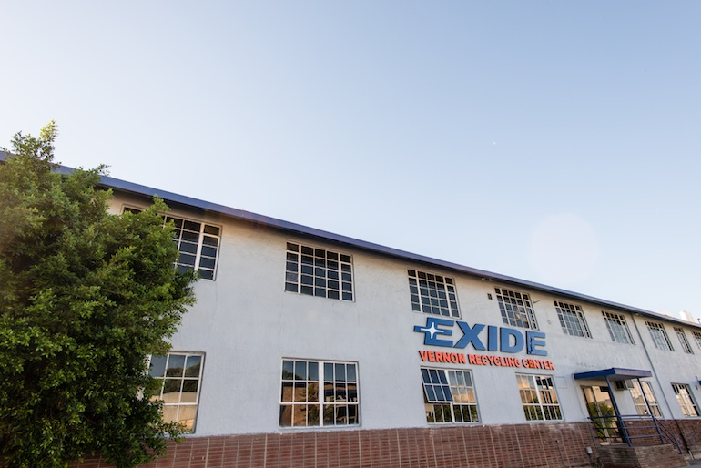 State officials shut down Exide Technologies in Vernon, California, in April due to emissions of arsenic that posed a health risk to more than 110,000 people in the nearby communities of Boyle Heights, East Los Angeles and Commerce (Photo by Heidi de Marco/KHN).