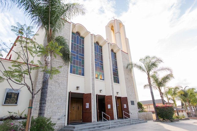 Resurrection Church in East Los Angeles has been a meeting ground for the community (Photo by Heidi de Marco/KHN).