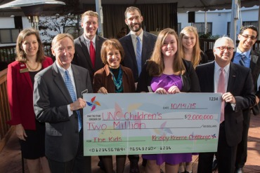 In October, the student group behind the Krispy Kreme Challenge, an annual charity race in Raleigh, N.C., pledged to raise a total of $2 million for the race's namesake clinic and UNC Children's Hospital.