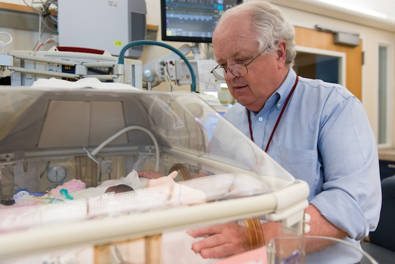 William Benitz, chief of neonatology at Lucille Packard Children's Hospital at Stanford, oversees a NICU with 74 beds (Photo by Heidi de Marco/KHN).