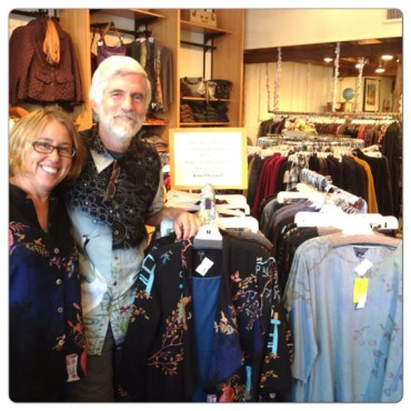Mike Roach and wife, Kim, co-owners of Palmona Clothing, a womens clothing store in Portand, Ore. They used the Obamacare small business exchange to provide health coveage to their workers. (Photo courtesy of Roach Family)