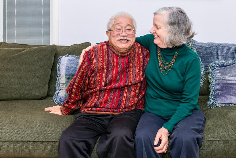 Diana and Yoshi Matsushima at their home in Glendale, Calif. (Heidi de Marco/KHN).