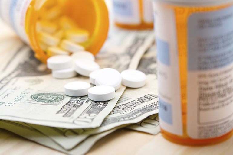 Prescription drugs are shown.