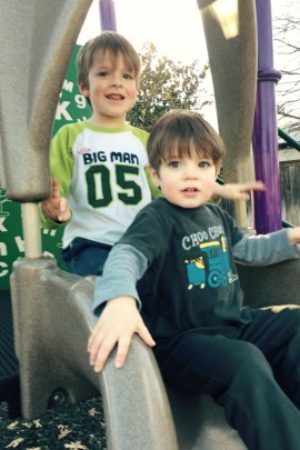 Jill Albright Briesch says her family has been forced to absorb the cost of much of the therapy for her two sons, Alexander 5, left, and William, 3. (Courtesy Jill Albright Briesch)