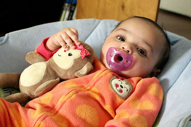 Amanda Hensley's daughter Valencia at 3 months old.