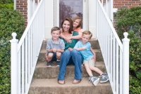 Annie Powell, 35, and her children, Cameron, 5, Emily, 8, and Jacob, 5, at their house in Sterling, Virginia, on Saturday, May 7, 2016.