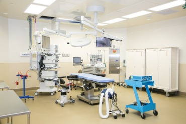 The two-story SCL Health Community Hospital-Southwest opened in Denver in May. The microhospital offers two operating rooms. (Courtesy of Emerus and SCL Health)