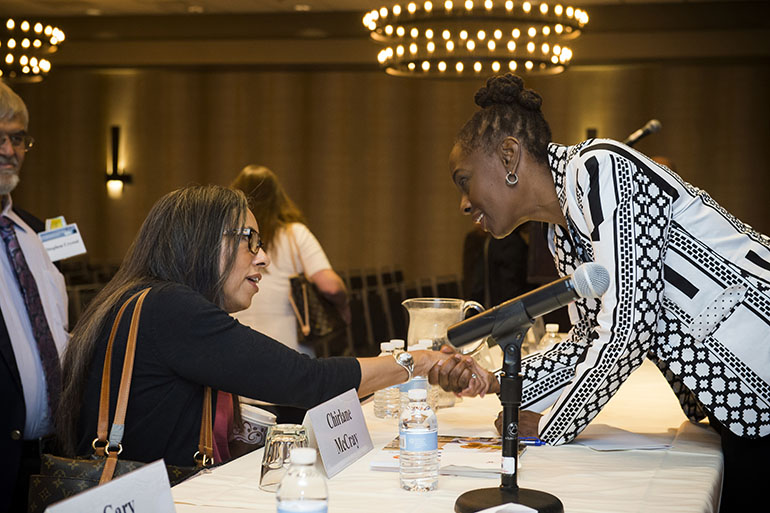New York City's first lady, Chirlane McCray, provides the keynote address at the National Institute of Mental Health's Annual Conference on Mental Health Services in Bethesda, Md., on Aug. 2, 2016. (Ed Reed/City of New York Mayoral Photography Office)