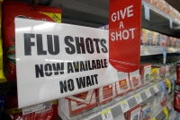 flu shot sign