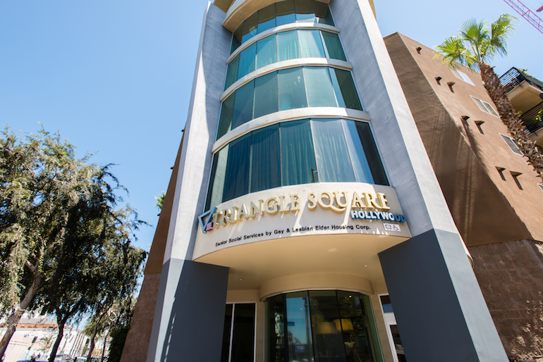 The Los Angeles Gay and Lesbian Elder Housing organization opened Triangle Square Apartments in 2007. In the first of its kind building, residents can get health and social services through the Los Angeles LGBT Center.