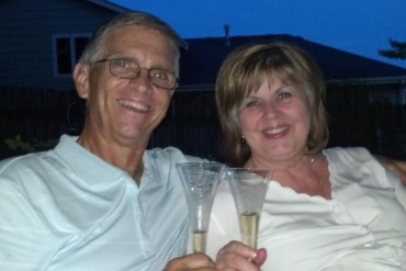 Jim and Sheryl on their 40th wedding anniversary on June 16, 2012. (Courtesy of the McGough family)