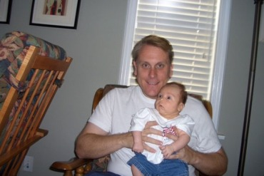 Scott Svonkin, pictured here with his newborn son, Sam, in 2006. Svonkin says he was denied health insurance three times before changes under the Affordable Care Act. He found health coverage in a high-risk pool. (Courtesy of Scott Svonkin)