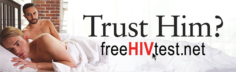 One of many ads sponsored by the AIDS Healthcare Foundation. (Image courtesy of the AIDS Healthcare Foundation)