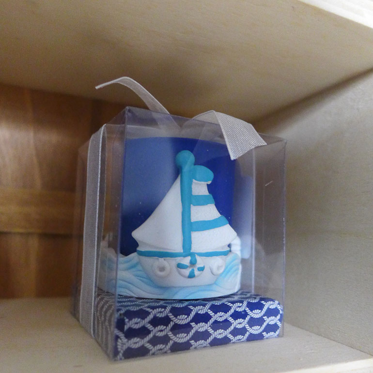 A small figurine of a boat sits on a shelf in the nursery of Keishla Mojica and John Rodriguez in Mojica's mother's home in November 2016 in Caguas, Puerto Rico. The couple settled on the room's decoration after a compromise between the couple; Rodriguez chose the theme for the baby shower, Mojica the theme for the nursery. (Carmen Heredia Rodriguez/KHN)