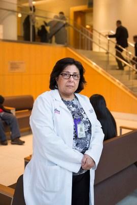 Dr. Laura Tocci regularly visits the Caregiver Support Center. (Ben Sklar for KHN)