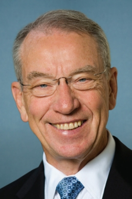 "Sen. Chuck Grassley, R-Iowa, said the CMS overpayments might ""never have seen the light of day"" had the Center for Public Integrity not filed a lawsuit. (Courtesy of the Congressional Pictorial Directory)"