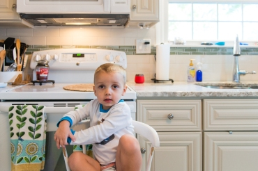 Luke Whitbeck, 2, in Ridgefield, CT, on October 7, 2016. Whitbeck has Gaucher's disease, a rare hereditary condition, and needs a weekly enzyme infusion of an orphan drug to treat the disorder. (Heidi de Marco/KHN)