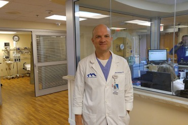 Dr. Jeffrey Newswanger, Manchester Memorial Hospital's chief medical officer and an emergency room physician, says doctors face great pressure from patients to prescribe pain medications. (Phil Galewitz/KHN)