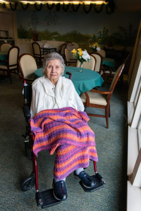 Marquez, 85, was diagnosed with Alzheimer's disease eight years ago. She lived in the same house for 50 years, but one day she couldn't find her way back home. (Heidi de Marco/KHN)