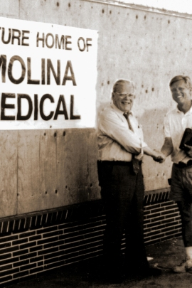 Molina Healthcare started with a system of medical clinics Dr. David Molina (left) founded in Long Beach, Calif., in 1980. (Courtesy of Molina Healthcare)