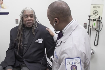 Earl Williams is diligent about seeing his doctor, but worries whether he will have health insurance after Republican changes to the ACA. (Screenshot/PBS)