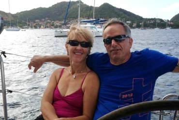 Lina Clark and her husband David Huntley on vacation in Croatia in 2014. Before he died of complications from ALS in 2015, Huntley's illness prompted them both to become activists, lobbying for California's right to try law. (Courtesy of Lina Clark)