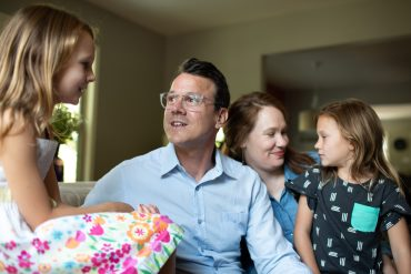 Drew Calver and family