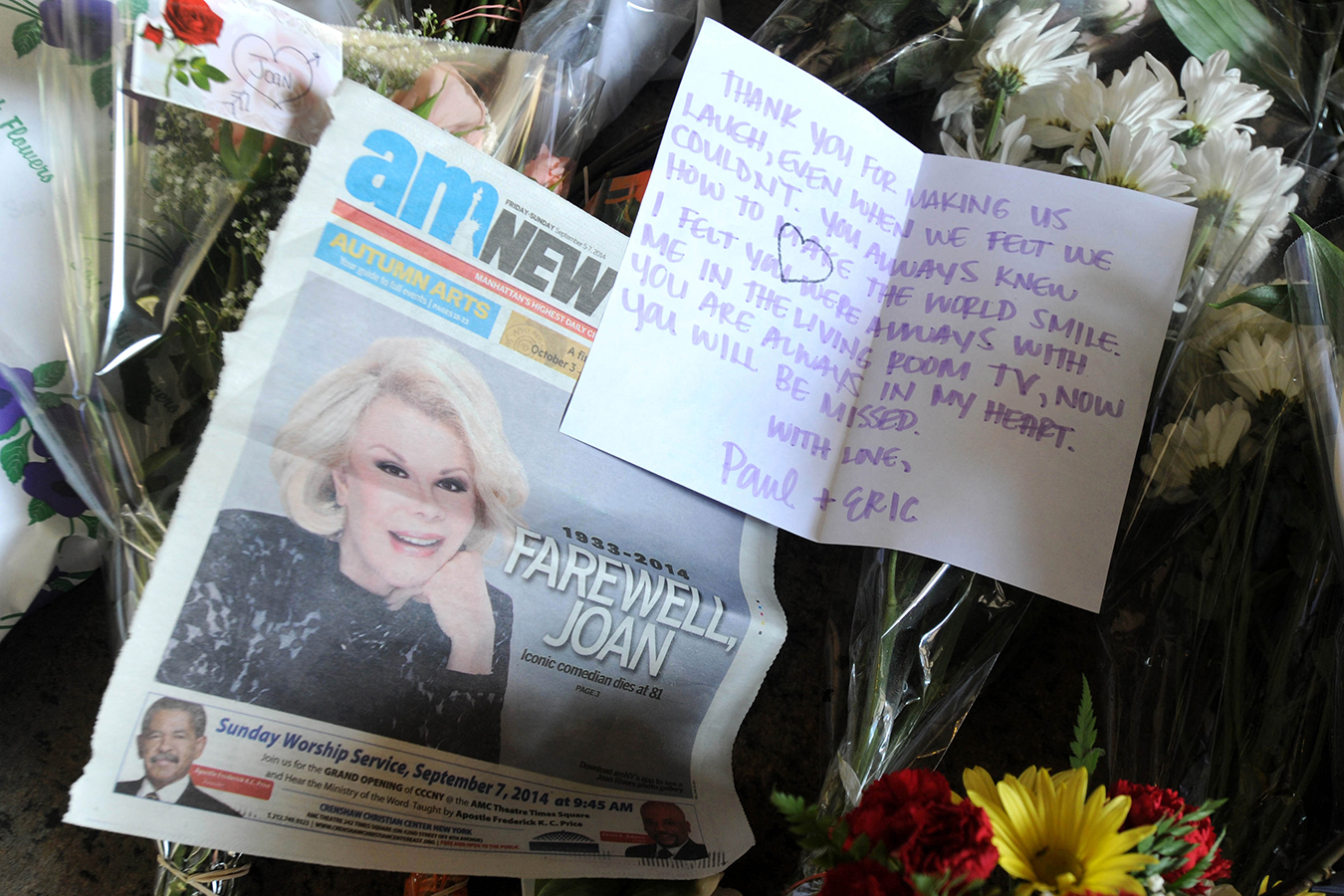 comedian Joan Rivers — who passed away in 2014 following a routine procedure at a Manhattan surgery center